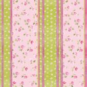 Войлочное полотно с рисунком, 30х30 см, 1 мм, FLSP/ST51 Цветочные полосы, Stamperia