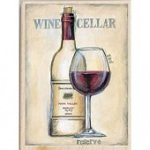 "Штамп-печать резиновый Janlynn 80427 ""Красное вино"", 14х10 см"