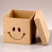 "Коробка ""Смайлик"" из папье-маше, 11х11х10,5 см, EFCO, арт. 2634275"