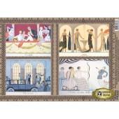 """Декупажная карта E-038 """"Прекрасные парижанки в театре"""", 42х29,7 см, 40 г/м2, Vintage Design"""