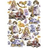 """Декупажная карта """"Куклы и игрушки"""" Calambour, EXC 270, 35х50 см, 60 г/м2"""