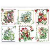Рисовая бумага для декупажа Renkalik QSIPR168, 35х50 см, Цветочные эльфы в цветочных рамках