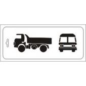 "Трафарет Event Design бордюр TRb-025 ""Авто - грузовичок"", 10х25 см"