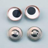 Глазки для игрушек подвижные пришивные, 14 мм, 2 шт., пластик, металл, 1039514, EFCO