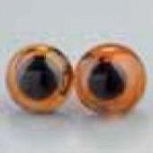 Глазки для игрушек пришивные коричневые, 12 мм, 4 шт., стекло, металл, 1036579, EFCO