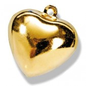 Бубенчики металлические Сердечко, 15 мм, 5 шт., цвет: золото, 8603176, Knorr Prandell