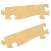 Контурная рамка для фоторамки-пазла, 2 шт., 23,2х7 см, МДФ, PRONTY, арт. 461.766.000