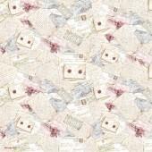 "Рисовая салфетка Stamperia для декупажа DFT083 ""Письма"", 50х50 см, 15 г/м2"