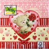 Салфетка для декупажа SDWA000401 бумажная, трёхслойная, 33х33 см, на фото 1/4 салфетки, С любовью
