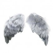 Крылья ангелов из перьев серые маленькие для кукол, 5х9,5 см, 2 шт., арт. 480544, Tilda