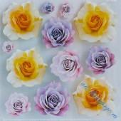 "Плёнка с печатью для техники Sospeso Trasparente 07-Rose ""Розы"", 23х23 см, Monica Allegro"