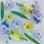 "Самоклеящаяся плёнка с печатью для техники Sospeso Trasparente 12-Gladiolus ""Гладиолус"", 23х23 см"