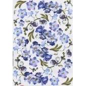 Декупажная карта для техники Sospeso Trasparante CP03, 35х50 см, Голубые цветы