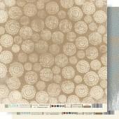 """Бумага для скрапбукинга двухсторонняя FD1000605 """"Морозные узоры"""", коллекция """"Крафтовая Зима"""", 30х30 см, Fleur design"""