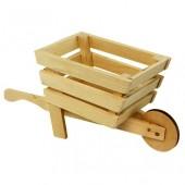 Тачка деревянная - заготовка для декора, 29х13,5х11 см, арт. 1105, WOODBOX
