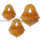 Маленькие глиняные горшочки подвесные KTR60, 6 шт., 3 размера: 5,5 см, 3,5 см, 2,5 см, Stamperia