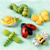 """Декоративные элементы самоклеящиеся 218043205 """"Летние насекомые"""", 2 см, 3 шт., полимерная смола, Knorr Prandell"""