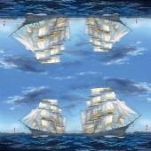 """Салфетка для декупажа бумажная """"Парусное судно"""", 33х33 см, арт. 211407, на фото целая салфетка"""