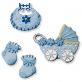 "Декоративные элементы 6930197 ""baby boy"", 2-4,5 см, 4 шт., полимерная резина, KNORR PRANDELL"