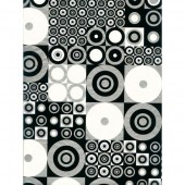 "Бумага для техники DECOPATCH 441 ""Геометрия чёрно-белая"", 30x40см"