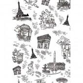 "Бумага для техники DECOPATCH 511 ""Париж чёрно-белый"", 30x40см"