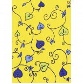 "Бумага для техники DECOPATCH 325 ""Листочки на жёлтом"", 30х40 см"