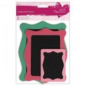 Рамки декоративные из картона, набор, 3 шт., 14х11 см, 12х9,7 см, 7,5х6 см, PMA355402, DOCRAFTS