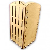 """Заготовка из дерева """"Короб-подставка с заборчиком под масло"""", 10,3х10,3х20,7 см, арт. 141353"""
