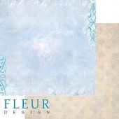 """Бумага для скрапбукинга двухсторонняя FD1001707 """"Морозные рисунки"""", коллекция """"Зимние чудеса"""", 30х30 см, Fleur design"""