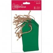 Бирки декоративные зелёные, 20 шт., 6,3х11,3 см, арт. PMA174302, DOCRAFTS