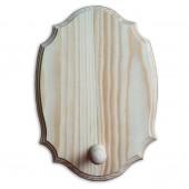 Вешалка фигурная одинарная - заготовка деревянная из сосны, 23х16х6 см, ПС-ВС01А