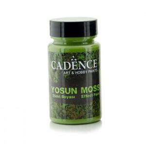 Краска-паста с эффектом мха Cadence Moss Effect Paint тёмно-зелёная, арт. MEP3640, 90 мл