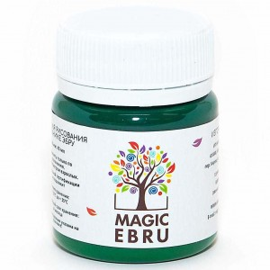Краска для Эбру зелёная, Magic Ebru, 40 мл