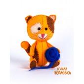 """Набор для изготовления игрушки из фетра """"Детки. Котёнок Рыжик"""", Перловка, арт. ПФД-1059"""