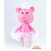 """Набор для изготовления игрушки из фетра """"Детки. Свинка балерина"""", Перловка, арт. ПФД-1064"""