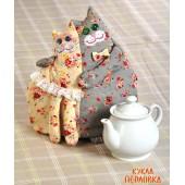 """Набор для изготовления игрушки """"Грелки на чайник. Кошки-Грелка"""", Перловка, арт. ПГЧ-1101"""