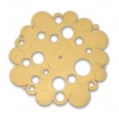 """Заготовка для часов круглая """"Пузырьки"""", 24,6х24, фанера 3 мм, арт. 13616"""