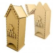 """Домик для чайных пакетиков """"Кошки на заборе"""" деревянный, арт. 151664, 26х9,5х9,5 см"""