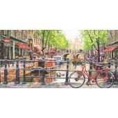 "Салфетка для декупажа ""Амстердамский канал"" бумажная 13310060, 33х33 см, на фото 1/2 салфетки"
