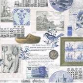"""Салфетка для декупажа """"Голландские миниатюры"""" бумажная, арт. 13310065, 33х33 см"""