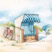 "Салфетка для декупажа ""Отдых на пляже"" бумажная 13310150, 33х33 см"