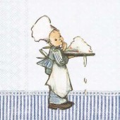 "Салфетка для декупажа ""Повар"" бумажная, арт. 13310265, 33х33 см, на фото 1/4 салфетки"