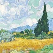 """Салфетка для декупажа """"Ван Гог. Пшеничное поле"""" бумажная, 13313685, 33х33 см"""