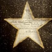 """Салфетка для декупажа """"Звезда и сердце на чёрном"""", 33х33 см, на фото 1/4 салфетки, IHR311"""