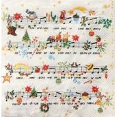"""Салфетка для декупажа """"Рождественская песня с нотами"""" бумажная IHR329, 33х33 см"""