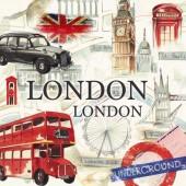 "Салфетка для декупажа ""London, Лондон"" бумажная IHR-375, 33х33 см"