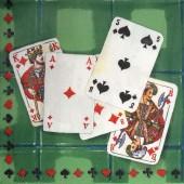 """Салфетка для декупажа """"Карты игральные"""" бумажная IHR-077, 33х33 см"""