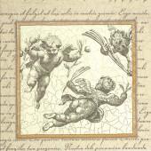 """Салфетка для декупажа """"Ангелы, гравюра"""" бумажная, IHR-613, 33х33 см"""