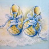 "Салфетка для декупажа ""Башмачки для малыша"" бумажная IHR-71140, 33х33 см"