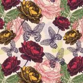 """Салфетка для декупажа """"Бабочки и розы"""" бумажная SLOG032701, 33х33 см"""